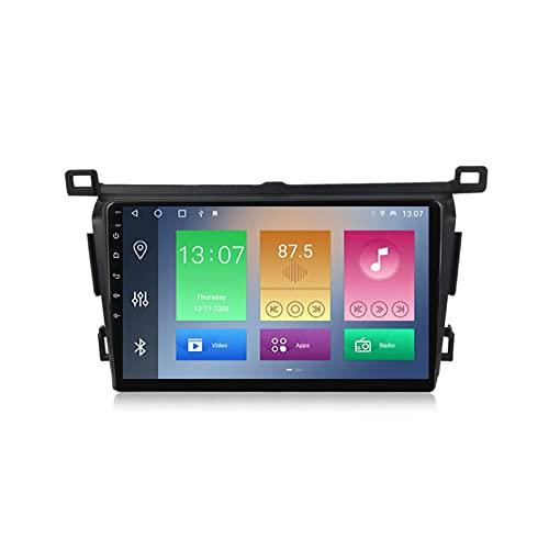 MGYQ 2 DIN Radio Coche con 9 Pulgadas Pantalla Táctil para Toyota RAV4 2013-2018 Autoradio con Bluetooth/GPS/FM/USB/Carplay Apoyo Control del Volante, Enlace De Espejo, Dab+,2+32g