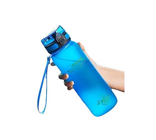 RYTR Botella de agua deportiva, botella de agua Tritan sin BPA/Taza de agua anticaída portátil-blue_650ml/deportiva para gimnasio, entrenamiento, viajes, oficina.