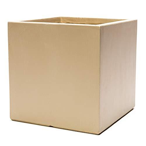 Jardinière cube en fibrecotta L