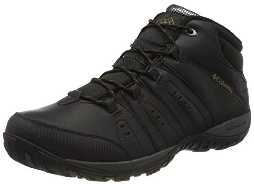 Columbia Peakfreak Nomad Chukka WP Omni-Heat Zapatos hombre , Negro(Black, Goldenrod), 42 EU