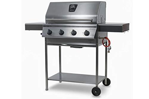 Schickling PremioGas XL II Barbecue - Edelstahlgrill Gas - Gasgrill Edelstahl - 4 Brenner a 5kW Leistung - Edelstahlrost - mit Deckel - Made in Germany - Direkt vom Hersteller