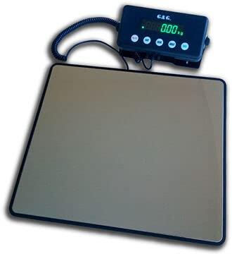 G&G PSE-B paketvåg plattformsvågar 60 kg/1 g, 100 kg/5 g, 200 kg/10 g LED personvåg med strömförsörjning eller batteridrift (200 kg/1 g (PSE200B))