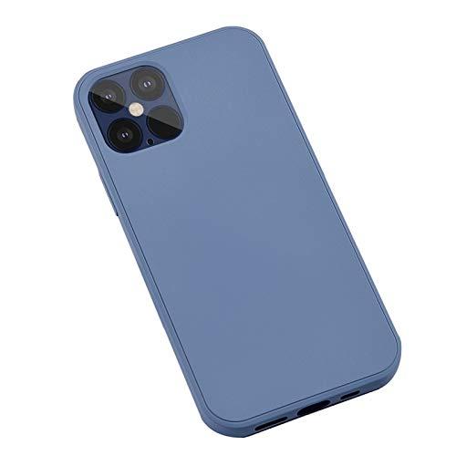 HTQZW Soft Liquid TPU Phone Protective Case Cover for iPhone 12/12 Mini/12 Pro Max (Color : Blue, Material : for 12ProMax 6.7inch)
