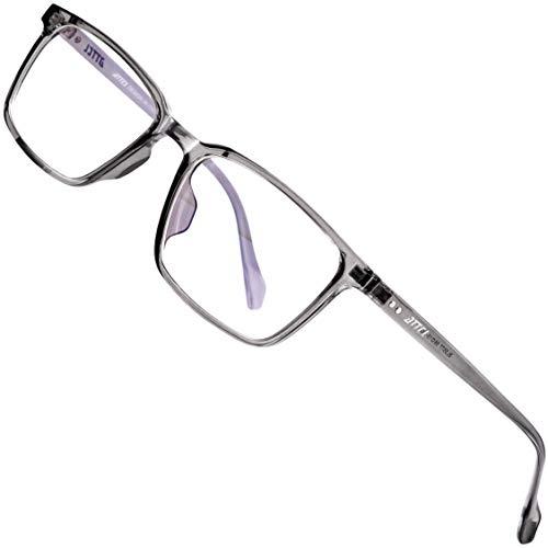 ATTCL Unisex blaulichtfilter brille zum Blockieren von UV-Kopfschmerz ohne sehstärke Computerbrille BL5577 Transparent+grey