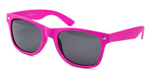 Ciffre Nerdbrille Sonnenbrille Nerd Atzen Pilotenbrille Brille Matt Pink Gummiert