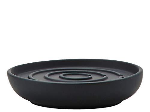 Zone Denmark Nova Seifenschale/Seifenhalter/Seifenablage, Porzellan mit Soft Touch-Beschichtung, schwarz