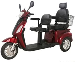 Two Seats Tandem Adult Electric Mobility Scooter, Double Seats