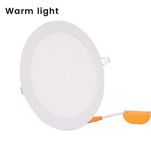 18W LED runde Einbau Decke Flachbildschirm Downlight Ultra Slim Ultradünne runde Einbauleuchten LED-Flächenleuchte Deckeneinbauleuchten für Innenbeleuchtung,Downlight Einbaustrahler (weiß)