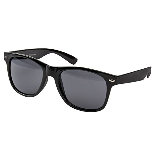 Ciffre Sonnenbrille Nerdbrille Nerd Retro Look Brille Pilotenbrille Vintage Look - ca. 80 verschiedene Modelle Schwarz Classic