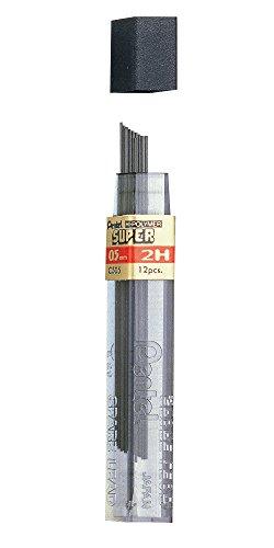 Pentel 18159 - Minas para portaminas 2H 0.5mm Paquete de 12