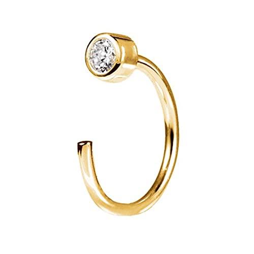 SINGULARU ® - Pendiente Suelto Sophie Oro para Mujer Plata de Ley 925 con baño de Oro de 18k - Joyas mujer