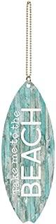 P. Graham Dunn Take Me to The Beach Teal Lath Surfboard 1.5 x 4.5 Wood Hanging Car Charm
