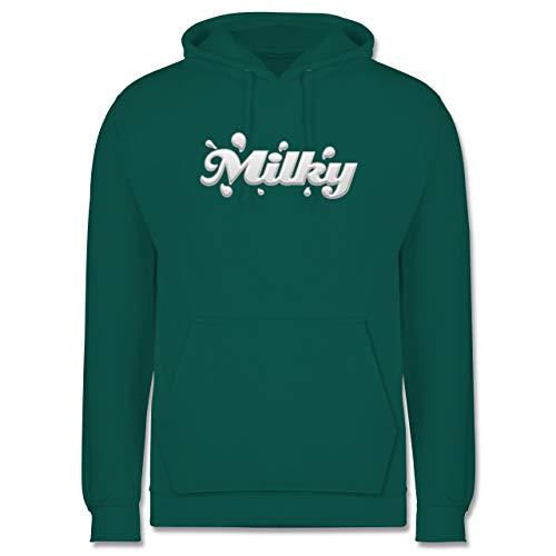 Shirtracer Karneval & Fasching - Schoki & Milky Milch - 3XL - Türkis - Geschenk - JH001 - Herren Hoodie und Kapuzenpullover für Männer