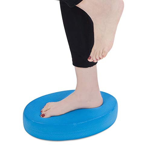 Aiweitey Stability Trainer Pad - Foam Balance Exercise Pad Cushion for Therapy, Yoga, Dancing Balance Training, Pilates,and Fitness (Blue)
