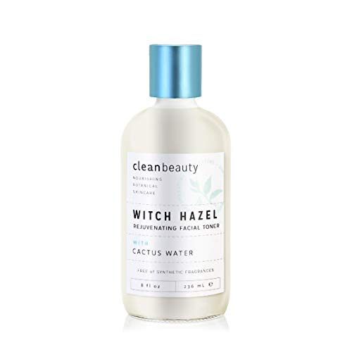 Clean Beauty Witch Hazel & Cactus Water Toner, 8oz
