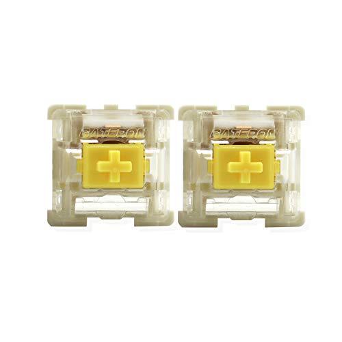 Gateron Switches KS - 9 Underglow Led Compatible for MX Mechanical Keyboard SMD LED Switch 3pin(90 Pcs,Yellow)