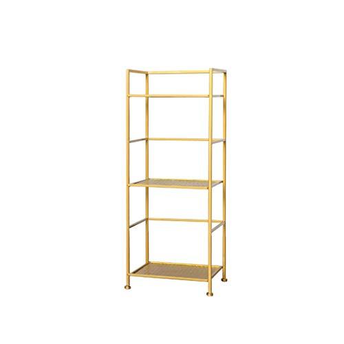 FXJ Estante de metal para almacenamiento de hierro forjado, decoración de sala de estar, ahorro de espacio, zapatero flotante (tamaño: S)