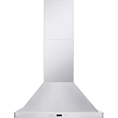 DKB 36' Inch Wall Mounted Range Hood Brushed Stainless Steel With Halogen Lights 600 CFM