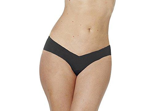 Alessandra B Camel Toe Cover Thong (Black, Small)