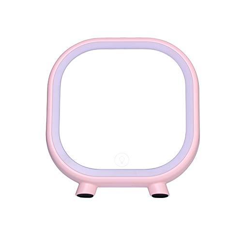 Miroir de Maquillage Portable LED avec des modèles tactiles de Miroir de Maquillage léger avec Support Audio La Lecture de la Carte TF Peut être connectée à Bluetooth