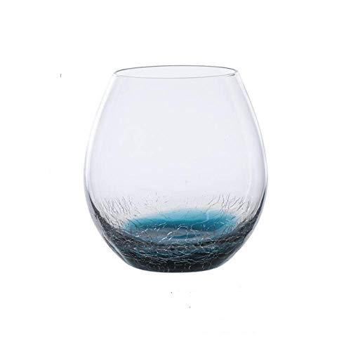Rotweingläserkristallglas Rotweinglas Hohes Glaseis Rissiges Blaues Wasser Mit Farbverlauf