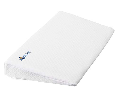 """Aurelius Crib Wedge Pillow for Acid Reflux,Baby Bassinet Wedge Pillow with Removable Cotton Cover,12° Incline Memory Foam Infant Sleep Pillow Wedge for Support,26""""x13""""x3"""""""