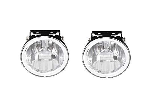 HABILL-AUTO Jeu de phares additionnels antibrouillard Blanc 12V 55W H3 Diam. 105mm