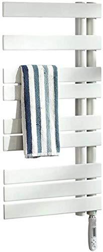 DFJU Toallero Caliente, radiador de Toalla calefactado de Panel Plano para baño, Impermeable y deshumidificación, función de sincronización de Ajuste Inteligente, 60 * 40, Blanco