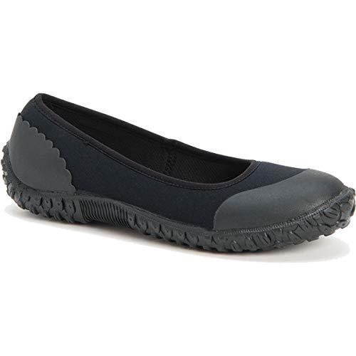 Muck Boot womens Muckster Ii Flat Rain Boot, Black W/ Night Floral Insert, 7 US
