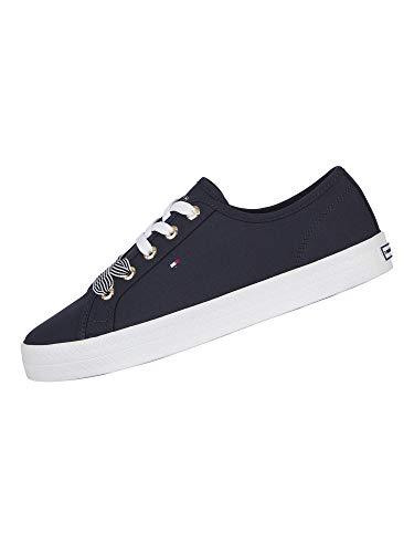 Tommy Hilfiger Essential Nautical Sneaker, Scarpe da Ginnastica Basse Donna, Blu (Desert Sky Dw5), 40 EU