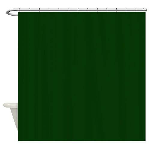 qhtqtt Duschvorhang Dunkelgrüner Dekorativer Stoff Für Badezimmer Wasserdichter Duschvorhang Aus Polyester 180X200Cm A