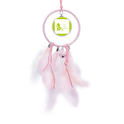 OFFbb-USA Playful Beagle Denies Poop Smelly Dream Catcher Small Bell Bedroom Decor