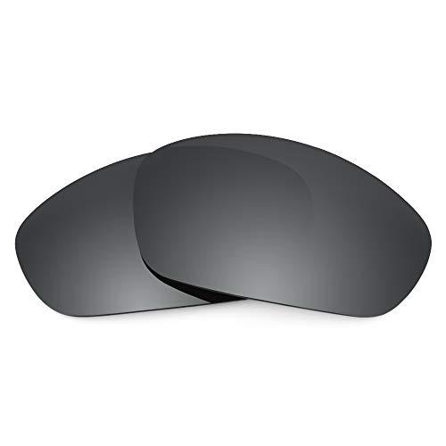 Revant Ersatzgläser für Oakley Straight Jacket (2007), Polarisiert, Elite Schwarz Chrome MirrorShield