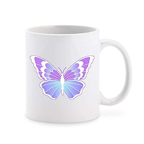N\A Hermosa Simple Primavera Fiesta de Hadas Mariposa Arte de Dibujos Animados Taza de café Taza de té Tazas de Regalo novedosas 11 oz