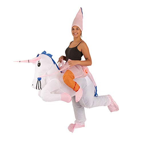Lumunu Deluxe aufblasbares Einhorn-Kostüm FRÄULEINHORN, Partykostüm für Erwachsene, One Size, Unisex, von Venize