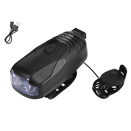 Shared Bike Lights, 2-In-1 Front Bike Light With Horn, Rechargeable Front Light & Rear Light, Waterproof Bicycle Light, Super Bright Cycling Lights & Reflectors -Black