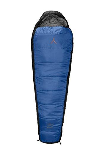 Grand Canyon Fairbanks XL - Warmer Mumienschlafsack, 3-Jahreszeiten, Extrem: -21°, Unterseite wasserabweisend, bis Körpergröße 205 cm, für Camping, Outdoor, Survival, Trekking, blau, 301006
