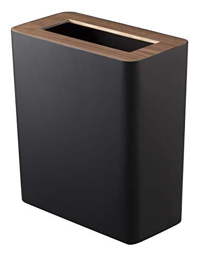 山崎実業 ゴミ箱 トラッシュカン リン 角型 ブラウン 3195