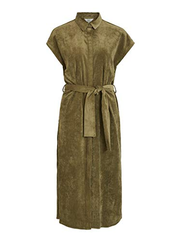 Object Damen Blusenkleid Bindegürtel 36Burnt Olive
