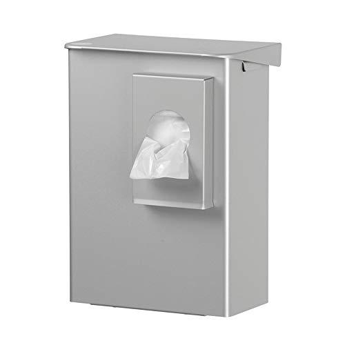 OPHARDT hygiene 1415091 Ingo-man AB 6 HB 2 A Geschlossene Hygiene-Abfallbox mit Klappdeckel und Hygienebeutelspender für Polybeutel, 6 Liter