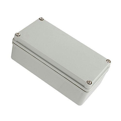 YXQ 160x80x60mm Junction Box Grey Electrical Project Case IP65 Waterproof ABS DIY Power Outdoor Enclosure (6.3 x 3.1 x 2.36 inches)