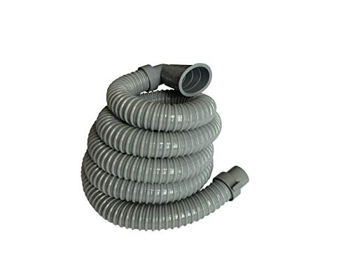 8 Feet - Universal Washing Machine Drain Discharge Hose by Zulu Supply, Thick, Heavy Duty Rubber, Universal Size, Fits Washing Machine Drain Discharge Outlets, Large, Extra Long, Extension
