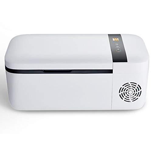 SSLL Auto Kompressor-KüHlbox Mit 12 Liter FassungsvermöGen DC12V/24V Mini KüHlschrank FüR Bierkasten Warmhaltebox CampingküHlschrank Cooling Box Tragbare Thermo Heizbox FüR Auto,RefrigerationApp