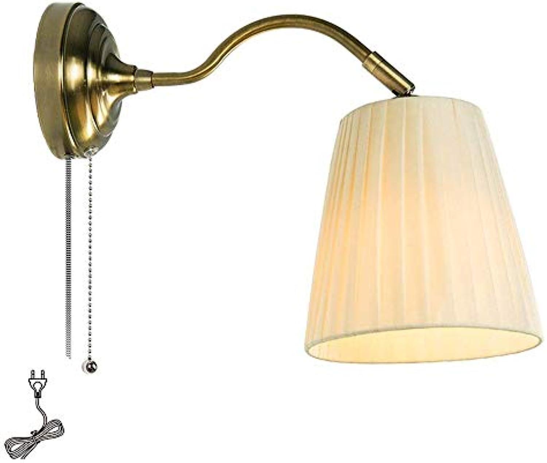 Golds nacht schmiedeeisen wandleuchte mit stecker draht schalter wohnzimmer persnlichkeit kreative licht linie 1,5 mt TZZ
