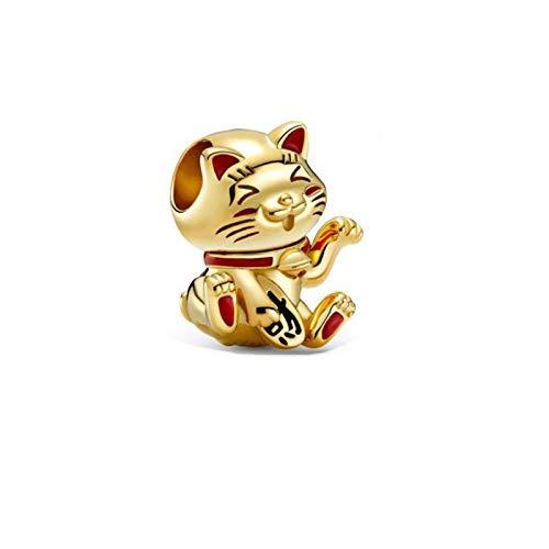 Auténtico Pandora 925 Colgante De Plata Esterlina Diy Estilo De San Valentín Charms Beads Sparkling Lucky Cat Fit Pulsera Original Joyería De Plata
