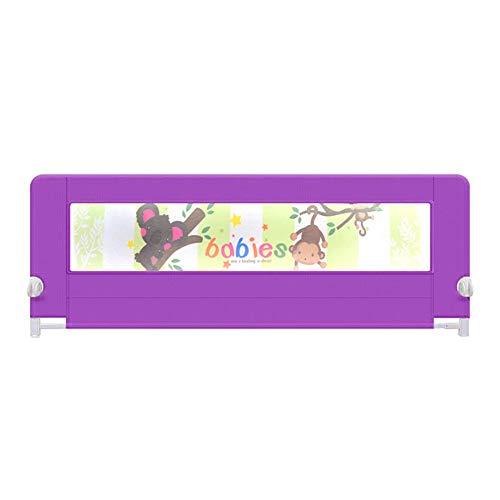 Barrières MAHZONG Barre de lit portative Safety First, Bleu, Rose, Violet (Couleur : Purple, Taille : L-150cm)