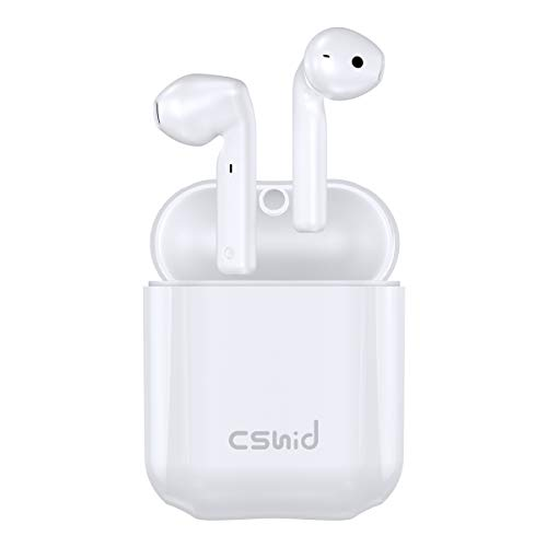 Wireless Earbuds, Cshidworld Bluetooth 5.0 Earbuds Noise Cancelling Wireless Headphones 30H Cycle Playtime Hi-Fi APT-X CVC8.0 Sweatproof Earphones with mic, in-Ear Headset with Charging Case