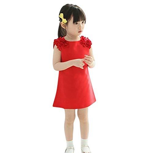 Bebé Niñas Vestidos,Vestido Casual de Manga Corta con Estampado Animal para 1-7 años,Vestido Niña, Lindo Rayas Vestido para Niñas Sin Mangas Casual Princesa Vestir Infantil de Fiesta Verano