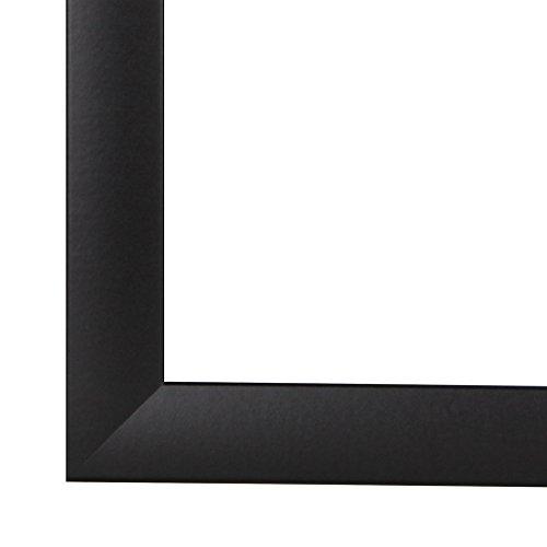 Olimp Bilderrahmen 60x110 oder 110x60 cm in SCHWARZ normal Kunstglas und Rückwand, 35 mm breite MDF-Leiste mit Dekor Folienummantelung