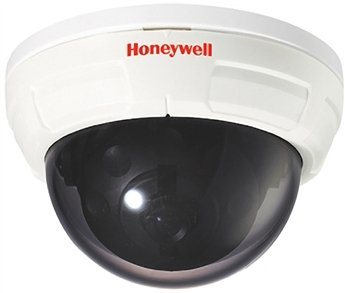 Honeywell Video HD40P 1/3' CCD Standard Resolution Color Indoor Fixed Mini-Dome Camera, 420 TVL, 3.8 mm Lens, 12 VDC, NTSC